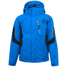 Spyder Rival Jacket - Insulated (For Boys) in Collegiate/Black/Black - Closeouts