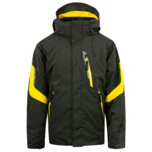 Spyder Rival Jacket - Insulated (For Boys) in Peat/Peat/Sun - Closeouts