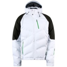 Spyder Rocket Down Jacket - Waterproof, 700 Fill Power (For Men) in White/Peat/Classic Green - Closeouts