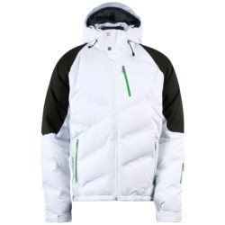 Spyder Rocket Down Jacket - Waterproof, 700 Fill Power (For Men) in White/Peat/Classic Green