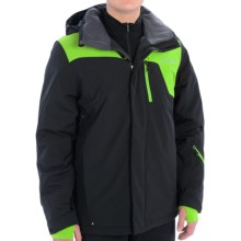 Spyder Scout 100 Jacket (For Men) in Black/Mantis Green - Closeouts