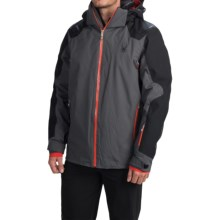 Spyder Sensor Thinsulate® Ski Jacket - Waterproof, Insulated (For Men) in Polar/Black/Volcano - Closeouts