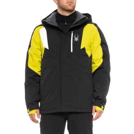 Spyder Sentinel Ski Jacket - Insulated (For Men) in Black/Aci/White - Closeouts