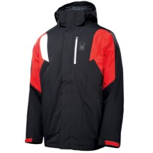 Spyder Sentinel Ski Jacket - Insulated (For Men) in Black/Volcano/White - Closeouts