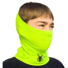 Spyder Shield Neck Gaiter (For Kids) in Bryte Green/Black - Closeouts