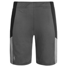 Spyder Side Stripe Mesh Knit Shorts (For Big Boys) in Grey/Black - Closeouts