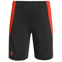 Spyder Side Stripe Mesh Knit Shorts (For Big Boys) in Red/Black - Closeouts