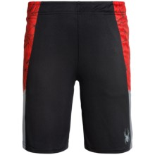 Spyder Side-Webbing Shorts (For Big Boys) in Volcano/Black/Grey - Closeouts