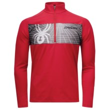 Spyder Sideline Turtleneck - Midweight, Zip Neck, Long Sleeve (For Men) in Red/Black - Closeouts