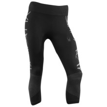 Spyder Snowball X-Static® Base Layer Capri Bottoms (For Women) in Black/Silver - Closeouts