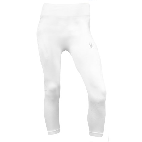 Spyder Snowball X-Static® Base Layer Capri Bottoms (For Women) in White/White