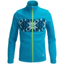 Spyder Soiree Core Sweater - Full Zip (For Big Girls) in Riviera/Green Flash/Multi Color - Closeouts