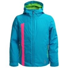 Spyder Sojourn Jacket - Waterproof, Breathable (For Big Girls) in Riviera/Bryte Bubblegum/Green Flash - Closeouts