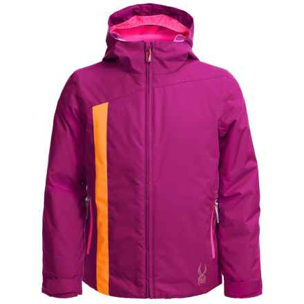 Spyder Sojourn Jacket - Waterproof, Breathable (For Big Girls) in Wild/Edge/Bryte Bubblegum - Closeouts