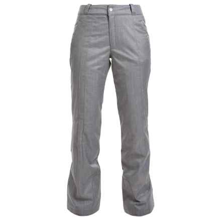 Spyder Soul Ski Pants - Waterproof, Insulated (For Women) in Graystone Crosshatch - Closeouts