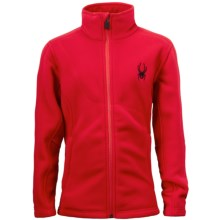 Spyder Speed Jacket - Fleece (For Boys) in Red/Red/Black - Closeouts