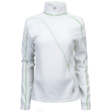 Spyder Speed Turtleneck Fleece Pullover - Polartec® 100, Long Sleeve (For Women) in 100 White/Green Flash - Closeouts