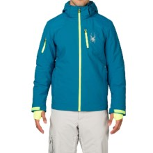Spyder Squaw Valley Ski Jacket - Waterproof, Insulated (For Men) in Concept Blue/Electric Blue/Bright Yellow - Closeouts