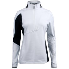 Spyder St. Moritz Turtleneck - Zip Neck, Long Sleeve (For Women) in White/Black - Closeouts
