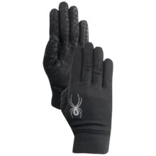 Spyder Stretch Fleece Gloves (For Men) in Black/Castle Rock - Closeouts