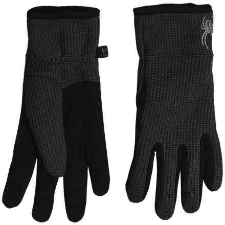 Spyder Stryke Sweater Conduct Gloves - Touchscreen Compatible (For Women) in Black - Closeouts