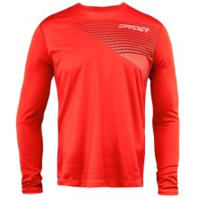 Spyder Subsonic Base Layer Top - Midweight, Crew Neck, Long Sleeve (For Men) in Volcano - Closeouts