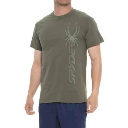 Spyder Subtle Graphic T-Shirt - Short Sleeve (For Men) in Dusty Olive Heather - Closeouts