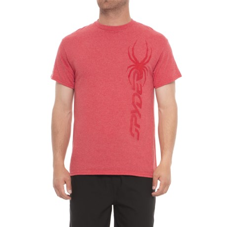 fb4ad824 Spyder Subtle Graphic T-Shirt - Short Sleeve (For Men) in Red