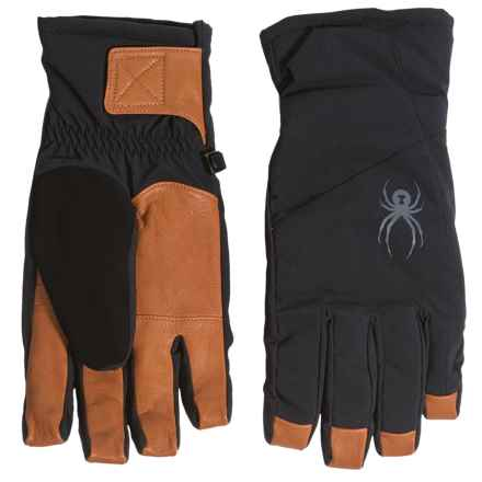 Spyder Sweep Ski Gloves - Waterproof, Insulated (For Men) in Black/Natural - Closeouts