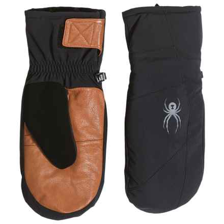 Spyder Sweep Ski Mittens - Waterproof, Insulated (For Men) in Black/Natural - Closeouts