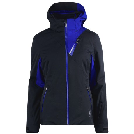 Spyder The Core Suite Systems Ski Jacket - Waterproof, Insulated, 3-in-1 (For Women) in Black/Blue My Mind