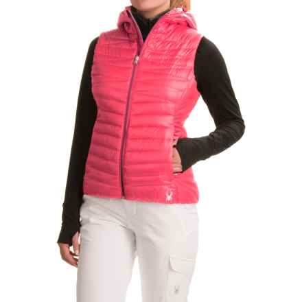 Spyder Timeless Down Vest - 700 Fill Power (For Women) in Bryte Pink/Weld - Closeouts