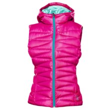 Spyder Timeless Hooded Down Vest - 700 Fill Power (For Women) in Girlfriend/Chill/Robins Egg - Closeouts
