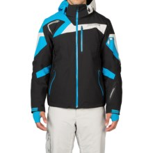 Spyder Titan Ski Jacket - Waterproof, Insulated (For Men) in Black/Electric Blue/Cirrus - Closeouts