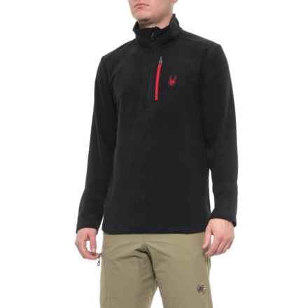 Spyder Transport Fleece Jacket - Zip Neck (For Men) in Black - Closeouts