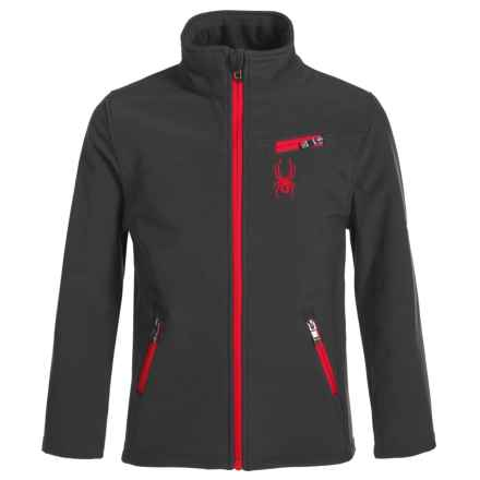 Spyder Transport Jacket - Waterproof (For Big Boys) in Black/Racing Red - Closeouts
