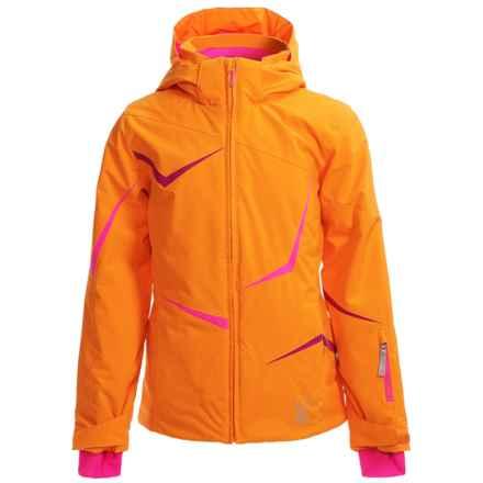 Spyder Tresh Ski Jacket - Waterproof, Insulated (For Big Girls) in Edge/Bryte Bubblegum/Wild - Closeouts
