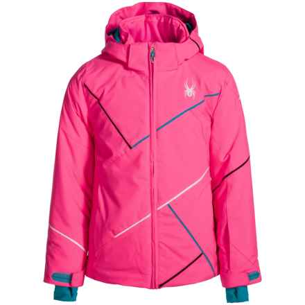 Spyder Tresh Ski Jacket - Waterproof, Insulated (For Girls) in Bryte Bubblegum/Bluebird/White - Closeouts