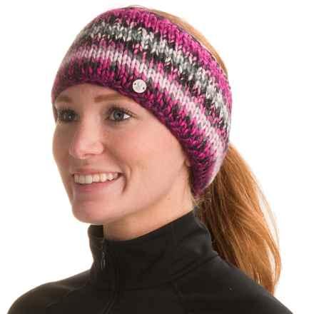 Spyder Twisty Knit Headband (For Women) in Black/White/Voila - Closeouts