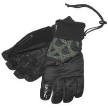 Spyder Under Web Gore-Tex® Ski Gloves - Waterproof, Insulated (For Men) in Black/Sharp Lime - Closeouts