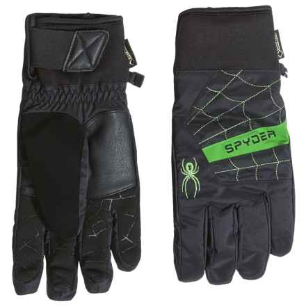 Spyder Underweb Gore-Tex® Ski Gloves - Waterproof, Insulated (For Men) in Black/Blade - Closeouts