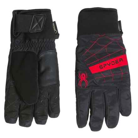Spyder Underweb Gore-Tex® Ski Gloves - Waterproof, Insulated (For Men) in Black/Red - Closeouts