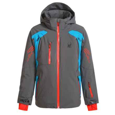 Spyder Vail Ski Jacket - Waterproof, Insulated (For Boys) in Polar/Electric Blue/Rage - Closeouts
