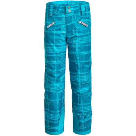 Spyder Vixen Athletic Pants - Waterproof, Insulated (For Big Girls) in Riviera Check Plaid Print - Closeouts