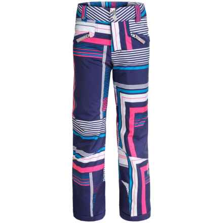 Spyder Vixen Tailored Ski Pants - Waterproof, Insulated (For Big Girls) in Evening Vybe Print - Closeouts