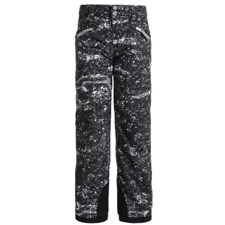 Spyder Vixen Tailored Ski Pants - Waterproof, Insulated (For Big Girls) in Sequins Black Print - Closeouts