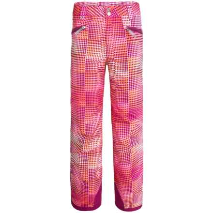Spyder Vixen Tailored Ski Pants - Waterproof, Insulated (For Big Girls) in Wild Diamond Print - Closeouts