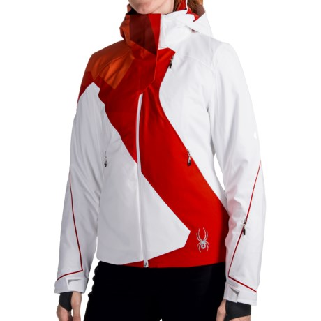 Spyder Volt Jacket - PrimaLoft® (For Women) in White/Volcano