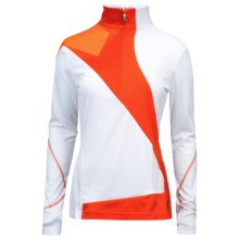 Spyder Voltaic Turtleneck - Heavyweight Base Layer, Zip Neck, Long Sleeve (For Women) in White/Volcano - Closeouts