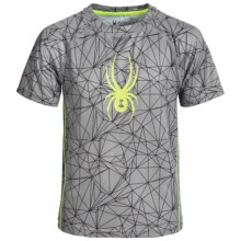 Spyder Web Print Shirt - Short Sleeve (For Big Boys) in Bryte Yellow - Closeouts